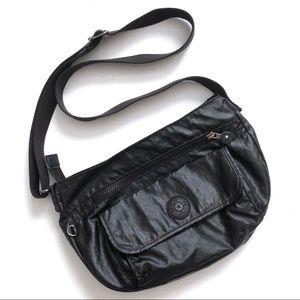 Kipling Metallic Black Syro Crossbody Bag